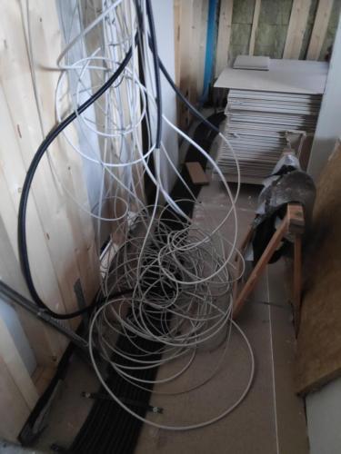Elektroverkabelung Aussenwände